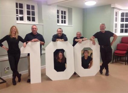 Group shot of members celebrating 100 years of NEMS
